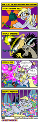 Size: 1280x3969 | Tagged: alicorn, alicornified, armpits, artist:outofworkderpy, bell, black mage, chaos magic, clothes, comic, comic:out of work derpy, costume, derpy hooves, dio, dio brando, discord, ditzy doo, female, final fantasy, food, grogar's bell, halloween, halloween costume, holiday, jojo's bizarre adventure, mare, meme, mistress mare-velous, muffin, nightmarenight, nightmare night, oc, oc:elti, oc:kala, oc:parsa, outofworkderpy, pegasus, power ponies, profit, race swap, safe