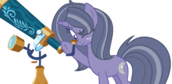 Size: 1472x720 | Tagged: safe, artist:browniepawyt, oc, oc only, oc:moondust, pony, unicorn, female, mare, offspring, parent:star tracker, parent:twilight sparkle, parents:twitracker, simple background, solo, telescope, transparent background