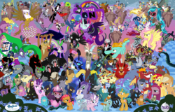 Size: 5999x3845 | Tagged: safe, artist:hooon, idw, accord, adagio dazzle, ahuizotl, angel bunny, antonio, applejack, aria blaze, arimaspi, auntie shadowfall, babs seed, basil, biff, big boy the cloud gremlin, bookworm (character), buck withers, bulk biceps, cerberus (character), chancellor neighsay, chimera sisters, cipactli, cirrus cloud, clump, cosmos (character), cozy glow, daisy, dandy grandeur, daybreaker, decepticolt, diamond cutter, diamond tiara, discord, dj pon-3, doctor caballeron, dumbbell, f'wuffy, feather bangs, fido, filthy rich, flam, flim, flower wishes, fluttershy, gaea everfree, garble, gilda, gladmane, gloriosa daisy, goldcap, granny smith, grogar, grubber, hard hat (character), high heel, hoops, indigo zap, ira, iron will, jet set, juniper montage, king longhorn, king sombra, lemon zest, lightning dust, long face, lord tirek, lyra heartstrings, mane-iac, manny roar, marine sandwich, mean applejack, mustachioed apple, nightmare moon, nightmare rarity, nosey news, olden pony, pinkie pie, pony of shadows, prince blueblood, prince rutherford, princess celestia, princess eris, princess luna, principal abacus cinch, professor flintheart, quarterback, queen chrysalis, queen cleopatrot, rabia, radiant hope, rainbow dash, rarity, reginald, rolling thunder, rough diamond, rover, sci-twi, screwball, shadow lock, shadowmane, short fuse, silver spoon, sludge (dragon), smooze, snails, snips, sonata dusk, sour sweet, sphinx (character), spike, spoiled rich, spot, squizard, starlight glimmer, stinky bottom, storm king, street rat, sugarcoat, sunflower (character), sunny flare, sunset shimmer, suri polomare, svengallop, tantabus, temperance flowerdew, tempest shadow, trixie, twilight sparkle, upper crust, vignette valencia, vinyl scratch, wallflower blush, well-to-do, wind rider, wrangler, zappityhoof, zesty gourmand, oc, oc:kydose, alicorn, bat, bat pony, bear, bee, bird, bugbear, cerberus, changeling, changeling queen, chimera, cockatrice, cragadile, crocodile, diamond dog, dog, draconequus, dragon, earth pony, flash bee, fruit bat, giant spider, griffon, headless horse, hydra, insect, manticore, minotaur, parasprite, pegasus, pony, pukwudgie, roc, siren, sphinx, spider, tatzlwurm, timber wolf, umbrum, unicorn, ursa, ursa minor, vampire fruit bat, wendigo, windigo, yak, yeti, equestria girls, equestria girls series, forgotten friendship, legend of everfree, molt down, my little pony: the movie, nightmare knights, rollercoaster of friendship, school daze, secrets and pies, the mean 6, spoiler:comic, spoiler:comic02, ahuizotl's cats, alicorn amulet, alicornified, antagonist, apple, background pony, bat ponified, black vine, carrie nation, chaos, chaos is magic, clone, clothes, collar, colt, crown, crystal prep shadowbolts, cutie mark, derpy spider, dog collar, ear piercing, earring, equestria girls ponified, every villain, evil pie hater dash, eyepatch, eyes closed, female, filly, flim flam miracle curative tonic, floating island, flutterbat, food, geode of empathy, geode of fauna, geode of shielding, geode of sugar bombs, geode of super speed, geode of super strength, geode of telekinesis, gold tooth, hat, headless, henchmen, hope, horn, horn ring, inspiration manifestation book, jewelry, magical geodes, male, mane six, mare, midnight sparkle, modular, multiple heads, piercing, pinkamena diane pie, poison joke, ponies of dark water, ponified, pouch pony, queen bee, quill (character), race swap, red eyes, regalia, score, shadow five, smudge, spear, spiked collar, spikezilla, staff, staff of sacanas, stallion, the dazzlings, the headless horse (character), three heads, top hat, twilight sparkle (alicorn), tyrant sparkle, uniform, wall of tags, wallpaper, washouts uniform, weapon, wings