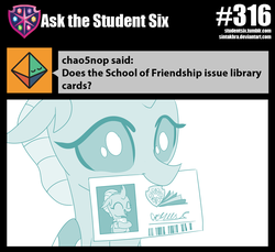 Size: 800x734 | Tagged: artist:sintakhra, barcode, book, card, changedling, changeling, cute, diaocelles, happy, hug, library card, mouth hold, ocellus, safe, solo, that changeling sure does love books, tumblr:studentsix