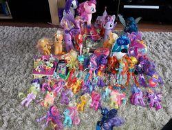 Size: 1200x900   Tagged: safe, applejack, bon bon, fluttershy, lyra heartstrings, nightmare moon, pinkie pie, princess cadance, princess celestia, princess flurry heart, princess luna, rainbow dash, rarity, sci-twi, shining armor, spike, sunny flare, sunset shimmer, sweetie drops, twilight sparkle, alicorn, pony, equestria girls, friendship games, alicornified, humane five, humane seven, humane six, irl, mane six, photo, prince shining armor, race swap, tecna, toy, twilight sparkle (alicorn)