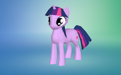 Size: 1280x800 | Tagged: female, gradient background, mare, pony, safe, solo, the sims, the sims 4, twilight sparkle, unicorn