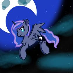 Size: 1080x1080   Tagged: safe, artist:bbluna, princess luna, pony