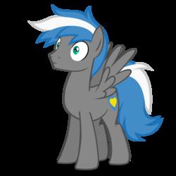 Size: 2800x2800 | Tagged: safe, artist:oblivionfall, oc, oc only, oc:cloud zapper, pegasus, pony, full body, male, solo, stallion
