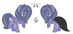 Size: 2374x1098 | Tagged: safe, artist:browniepawyt, oc, oc:moondust, alicorn, pony, cloak, clothes, female, mare, offspring, parent:star tracker, parent:twilight sparkle, parents:twitracker, reference sheet, simple background, solo, transparent background