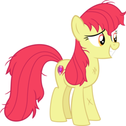 Size: 4020x4000 | Tagged: absurd res, accessory-less edit, apple bloom, artist:steyrrdash, dirty, earth pony, edit, editor:slayerbvc, female, growing up is hard to do, mare, messy mane, missing accessory, older, older apple bloom, pony, safe, simple background, solo, spoiler:s09e22, transparent background, vector, vector edit