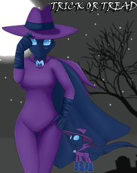 Size: 1588x2000 | Tagged: artist:focusb, clothes, costume, female, halloween, halloween costume, holiday, human, humanized, looking at you, mare do well, night, safe, solo, underass