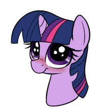 Size: 216x222 | Tagged: safe, artist:axlearts, twilight sparkle, pony, big eyes, blushing, cute, daaaaaaaaaaaw, female, head only, looking at you, lowres, simple background, solo, twiabetes, white background