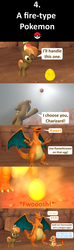 Size: 1920x6480 | Tagged: safe, artist:red4567, button mash, princess ember, charizard, charmander, earth pony, pony, comic:6 ways to reheat the dragon eggs, sweet and smoky, spoiler:s09e09, 3d, comic, crossover, dragon egg, fire, pokéball, pokémon, source filmmaker