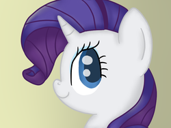 Size: 800x600 | Tagged: artist:poofypegasus, bust, cute, pony, portrait, profile, raribetes, rarity, safe, solo, unicorn