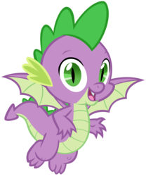 Size: 3429x4115 | Tagged: safe, artist:andoanimalia, spike, dragon, the beginning of the end, spoiler:s09e02, flying, looking at you, male, open mouth, simple background, solo, transparent background, vector, winged spike