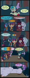 Size: 2400x6259 | Tagged: ..., alicorn, amputee, artist:noidavaliable, bush, cat ears, changeling, clothes, comic, costume, dragon, earth pony, everfree forest, gallus, glowing horn, griffon, hat, headless, hippogriff, horn, invisible, log, nightmare night, ocellus, paw gloves, pirate, pony, pre changedling ocellus, safe, sandbar, silverstream, smolder, stump, tree, twilight sparkle, twilight sparkle (alicorn), vampire, witch, witch hat, yak, yona, zombie