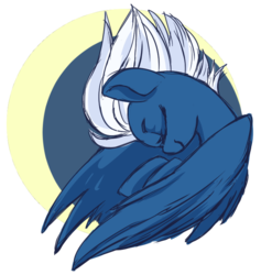 Size: 650x687 | Tagged: artist:lockhe4rt, eyes closed, female, mare, night glider, pegasus, pony, profile, safe, solo, windswept mane