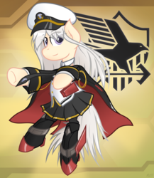 Size: 2672x3076 | Tagged: artist:mrlolcats17, azur lane, clothes, earth pony, enterprise, high res, ponified, pony, safe, solo, uniform, us navy, vector