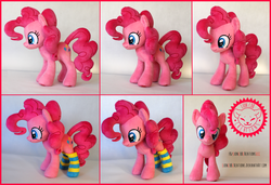 Size: 2500x1711 | Tagged: artist:lioncubcreations, clothes, photo, pinkie pie, plushie, pony, pony plush, safe, socks, solo, striped socks