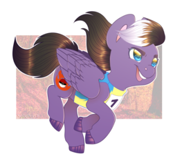 Size: 900x861 | Tagged: artist:sadelinav, clothes, female, mare, oc, oc only, oc:storm blaze, pegasus, pony, safe, solo, uniform, wonderbolt trainee uniform