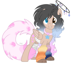 Size: 1280x1134 | Tagged: safe, artist:mintoria, oc, oc only, oc:max, pegasus, pony, female, halo, leg warmers, mare, simple background, solo, transparent background