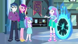 Size: 4928x2768 | Tagged: safe, artist:3d4d, artist:lhenao, princess cadance, princess flurry heart, shining armor, equestria girls, clothes, dress, equestria girls-ified, feet, female, high heels, male, older, older flurry heart, sandals, self ponidox, shiningcadance, shipping, shoes, skirt, straight, time paradox, time travel