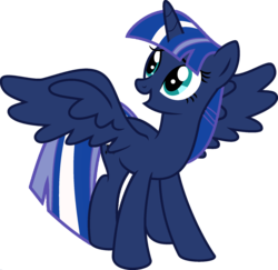 Size: 1920x1870 | Tagged: safe, artist:kamyk962, edit, vector edit, princess luna, twilight sparkle, alicorn, pony, ponyar fusion, fusion, recolor, simple background, transparent background, twilight sparkle (alicorn), vector