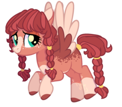 Size: 1363x1200 | Tagged: artist:jxst-margaret, artist:pegasski, base used, blank flank, blaze (coat marking), braided pigtails, braided tail, colored hooves, colored wings, colored wingtips, dappled, female, freckles, mare, oc, offspring, parent:big macintosh, parent:fluttershy, parents:fluttermac, pegasus, pigtails, pony, safe, simple background, socks (coat marking), transparent background, twintails, unnamed oc