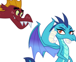 Size: 966x786 | Tagged: absurd res, artist:dashiesparkle, dragon, dragon quest, edit, emble, female, garble, male, princess ember, safe, shipping, simple background, straight, svg, .svg available, transparent background, triple threat, vector