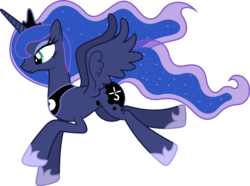 Size: 1600x1193 | Tagged: safe, artist:spacekingofspace, edit, editor:grapefruitface, vector edit, princess luna, pony, alternative cutiemark, blue oyster cult, simple background, solo, transparent background, vector