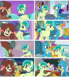 Size: 540x603 | Tagged: comparison, earth pony, female, gallbar, gallus, gay, griffon, implied bisexual, male, pony, safe, sandbar, school daze, screencap, she's all yak, shipping, shipping fuel, spoiler:s09e03, spoiler:s09e07, straight, uprooted, yak, yona, yonabar