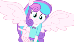 Size: 3422x1925 | Tagged: alicorn, artist:lhenao, base used, equestria girls, human, older, older flurry heart, parent:dean cadance, parent:princess cadance, ponied up, princess flurry heart, safe, solo