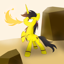 Size: 897x891 | Tagged: accessories, artist:blazeburn386, bracelet, breath, breathing, ear piercing, earring, fire, flamethrower, jewelry, magic, magic show, male, necklace, oc, oc only, paint tool sai, photoshop, piercing, pony, safe, solo, stallion, unicorn, unicorn oc, walking, weapon