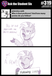 Size: 800x1183 | Tagged: safe, artist:sintakhra, silverstream, classical hippogriff, hippogriff, tumblr:studentsix, breaking the fourth wall, followers, following, milestone, solo, stair keychain