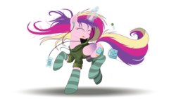 Size: 10667x6000 | Tagged: absurd res, alicorn, alternate version, artist:beyondequestria, artist:ncmares, ask majesty incarnate, background removed, candy, clothes, cute, cutedance, dancing, earbuds, eyes closed, female, food, glowing horn, headphones, hoodie, horn, ipod, jacket, levitation, listening, lollipop, magic, majestic as fuck, mare, mug, music, ncmares is trying to murder us, nose wrinkle, pony, princess cadance, safe, signature, simple background, socks, solo, striped socks, telekinesis, tongue out, transparent background