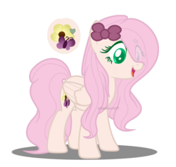 Size: 1024x975 | Tagged: safe, artist:seaswirlsyt, oc, oc:fluffy gem, pegasus, pony, female, magical lesbian spawn, mare, offspring, parent:cheerilee, parent:fluttershy, parents:cheerishy, simple background, solo, transparent background