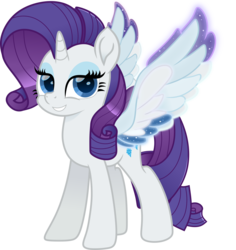 Size: 5000x5295 | Tagged: alicorn, alicornified, artist:n0kkun, colored wings, female, mare, multicolored wings, pony, race swap, rainbow roadtrip, rainbow wings, raricorn, rarity, safe, simple background, solo, spoiler:rainbow roadtrip, transparent background, unicorn, wings