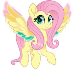 Size: 5000x4686 | Tagged: artist:n0kkun, colored wings, cute, female, fluttershy, mare, multicolored wings, pegasus, pony, rainbow roadtrip, rainbow wings, safe, shyabetes, simple background, solo, spoiler:rainbow roadtrip, transparent background, wing bling, wings