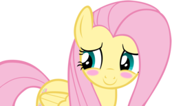 Size: 6546x4026 | Tagged: safe, artist:andoanimalia, fluttershy, pegasus, pony, maud pie (episode), absurd resolution, blushing, cute, female, mare, shyabetes, simple background, solo, transparent background, vector