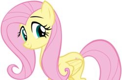 Size: 5848x3855 | Tagged: safe, artist:andoanimalia, fluttershy, pegasus, pony, swarm of the century, cute, female, high res, mare, shyabetes, simple background, smiling, solo, transparent background, vector