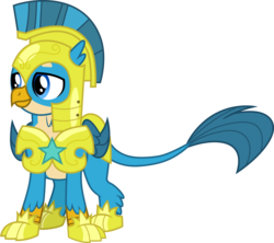 Size: 3383x3000 | Tagged: safe, artist:cloudyglow, gallus, griffon, the last problem, .ai available, armor, helmet, male, royal guard armor, royal guard gallus, simple background, solo, transparent background, vector