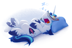 Size: 2070x1380 | Tagged: adorkable, artist:bcpony, comic book, cute, dork, drool, facebooking, leg twitch, male, on back, onomatopoeia, open mouth, pillow, pony, safe, shining adorable, shining armor, sleeping, snoring, solo, sound effects, stallion, unicorn, unshorn fetlocks, z, zzz
