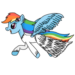 Size: 768x768 | Tagged: artist:rainbow dash is best pony, clothes, dress, flower, happy, pegasus, pony, rainbow dash, rainbow dash always dresses in style, safe, shading, solo, spread wings, wings