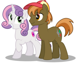 Size: 1280x1063 | Tagged: safe, artist:aleximusprime, button mash, sweetie belle, earth pony, pony, unicorn, flurry heart's story, concept art, female, high res, male, mare, older, older button mash, older sweetie belle, shipping, simple background, stallion, straight, sweetiemash, transparent background