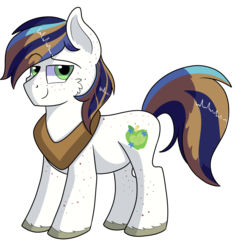 Size: 1280x1343   Tagged: safe, artist:rainbowtashie, big macintosh, shining armor, oc, earth pony, pony, commissioner:bigonionbean, cute, cutie mark, fusion, handsome, horse collar