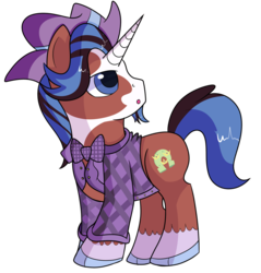 Size: 1280x1339 | Tagged: artist:rainbowtashie, bowtie, classy, clydesdale, commissioner:bigonionbean, cute, cutie mark, earth, facial hair, fancypants, fusion, goatee, handsome, oc, pony, safe, trouble shoes, unicorn