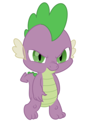 Size: 1500x2000 | Tagged: artist:pizzamovies, dragon, male, safe, simple background, solo, spike, transparent background