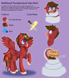 Size: 3030x3409 | Tagged: artist:cha-squared, blue eyes, blushing, coils, commission, commissions, hypnosis, knife, lamia, lightning, misspelling, oc, oc:boltblood thundercloud, oc:ruby scales, original species, pegasus, pony, red coat, reference sheet, safe, sign, smiling, snake tail