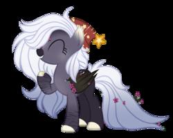 Size: 1024x820 | Tagged: safe, artist:tears2shed, oc, oc:cole, bat pony, pony, female, hat, mare, nightcap, solo