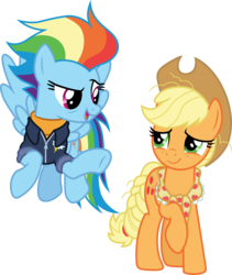 Size: 3000x3553 | Tagged: safe, artist:cloudyglow, applejack, rainbow dash, pony, the last problem, .ai available, older, older applejack, older rainbow dash, simple background, transparent background, vector