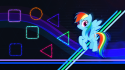 Size: 8000x4500 | Tagged: safe, artist:andoanimalia, artist:game-beatx14, edit, rainbow dash, pegasus, pony, absurd resolution, female, flying, looking at you, mare, solo, wallpaper, wallpaper edit