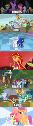 Size: 500x1910 | Tagged: alicorn, apple bloom, applejack, artist:crosslineanimator, changedling, changeling, collage, comic, crusaders of the lost mark, cutie mark crusaders, discord, edit, edited screencap, equestria girls, flash magnus, flight to the finish, fluttershy, gallus, king thorax, mane seven, mane six, meadowbrook, mistmane, my little pony: the movie, ocellus, pillars of equestria, pinkie pie, princess celestia, princess luna, princess twilight sparkle (episode), rainbow dash, rainbow rocks, rarity, rockhoof, royal sisters, safe, sandbar, school daze, scootaloo, screencap, screencap comic, shadow play, silverstream, smolder, somnambula, spike, starlight glimmer, star swirl the bearded, student six, stygian, sunset shimmer, sweetie belle, thorax, to where and back again, trixie, twilight sparkle, twilight sparkle (alicorn), yona