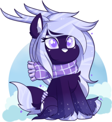 Size: 1677x1825 | Tagged: safe, artist:xwhitedreamsx, oc, oc:lavender prisma, deer, deer pony, original species, pond pony, female, mare, simple background, solo, transparent background