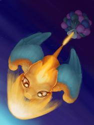 Size: 564x752 | Tagged: safe, artist:pa-kalsha, charizard, pony, balloon, pokémon, ponified